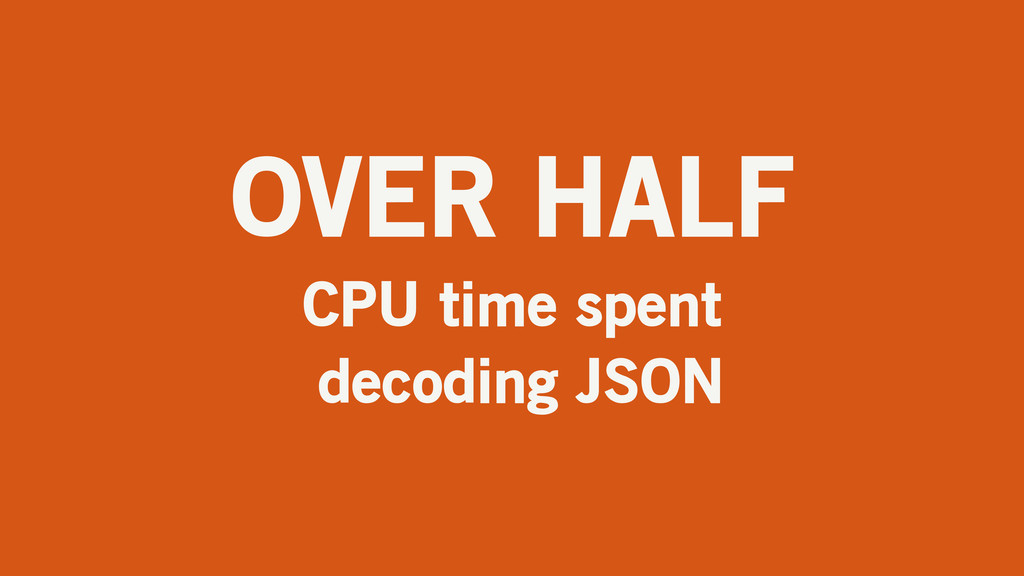 OVER HALF CPU time spent decoding JSON