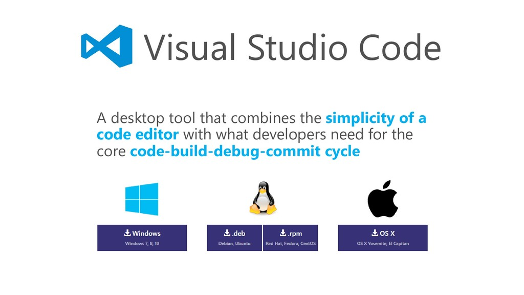 Visual Studio Code A desktop tool that combines...
