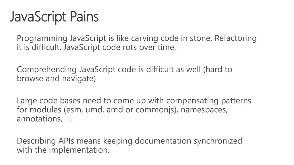 Programming JavaScript is like carving code in ...