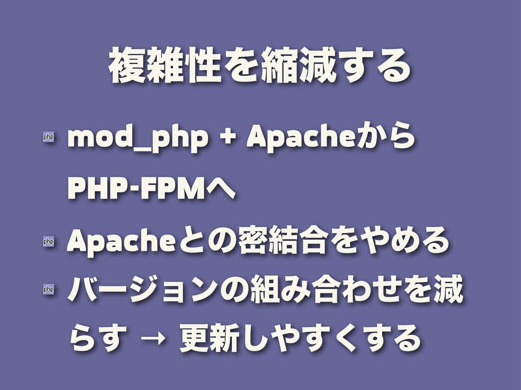 ෳੑΛॖݮ͢Δ mod_php + Apache͔Β PHP-FPM Apacheͱͷີ݁...