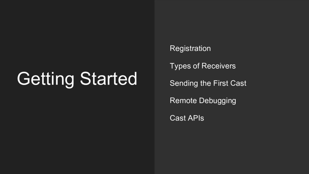 Getting Started Registration Types of Receivers...