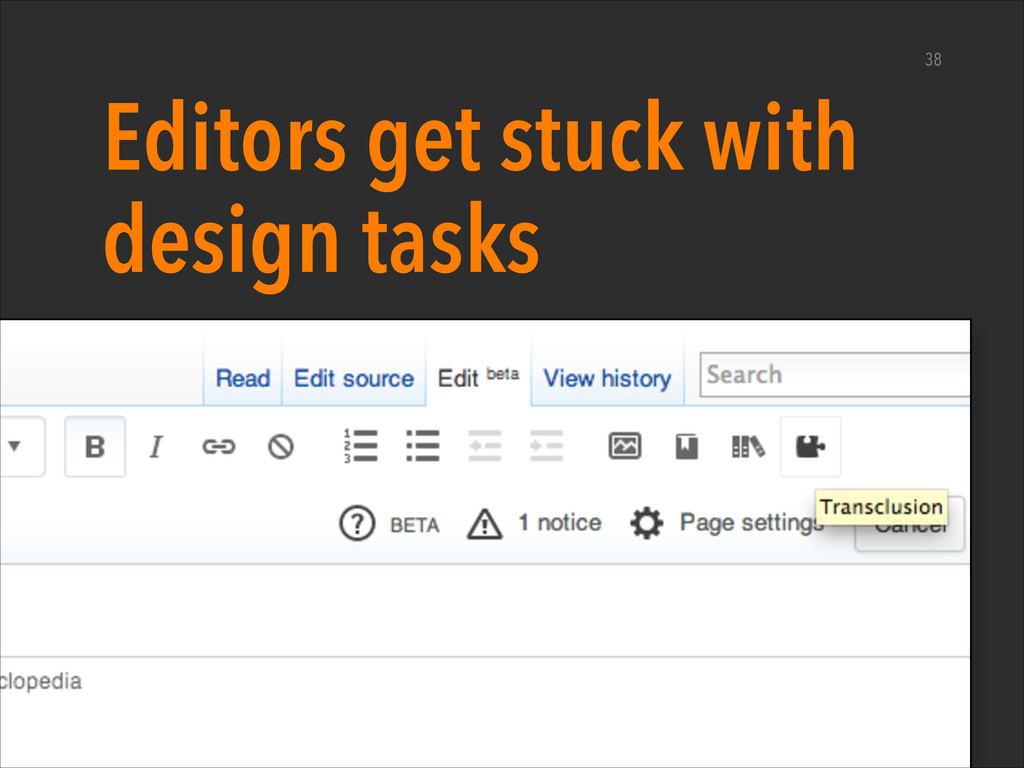 Editors get stuck with design tasks ‣ Take a ha...