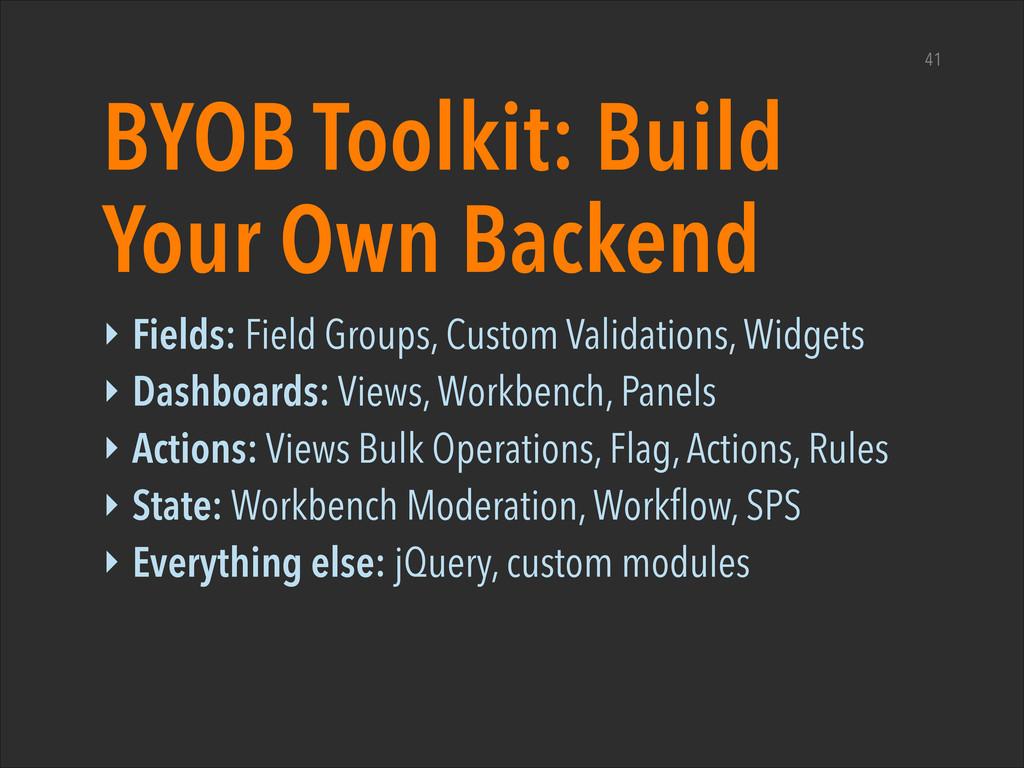 BYOB Toolkit: Build Your Own Backend ‣ Fields: ...