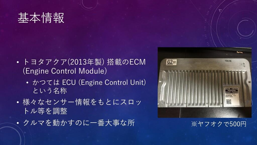 • トヨタアクア(2013年製) 搭載のECM (Engine Control Module)...