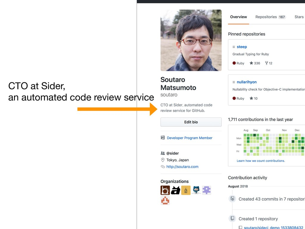 CTO at Sider, an automated code review service