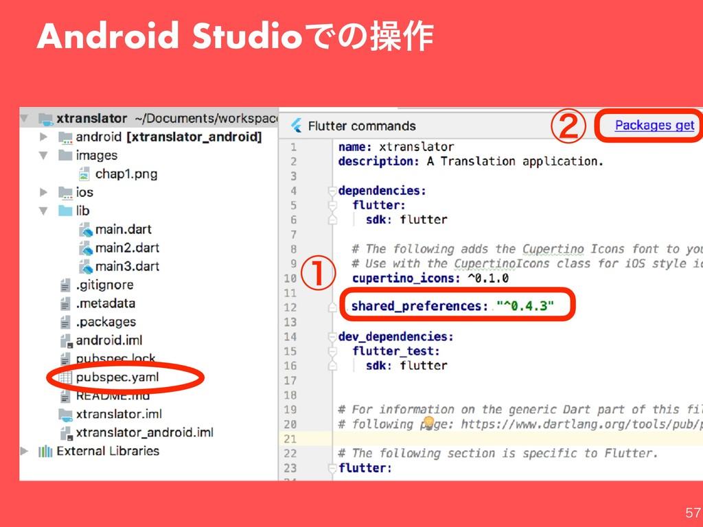 Android StudioͰͷૢ࡞ ᶃ ᶄ