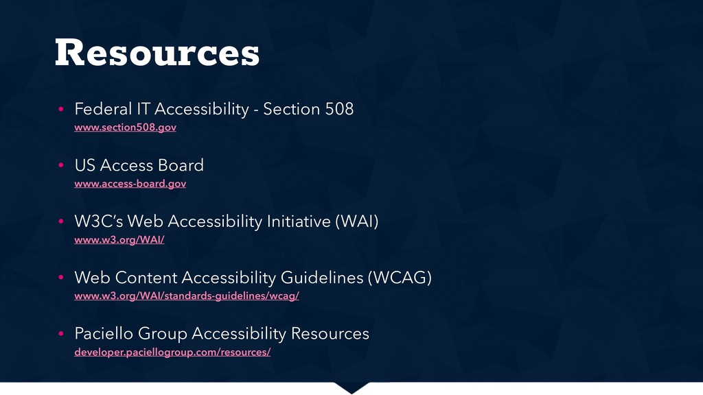 Resources • Federal IT Accessibility - Section ...
