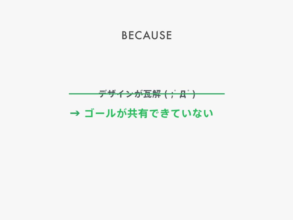 BECAUSE ˠΰʔϧ͕ڞ༗Ͱ͖͍ͯͳ͍ σβΠϯ͕נղ ƅЧƅ