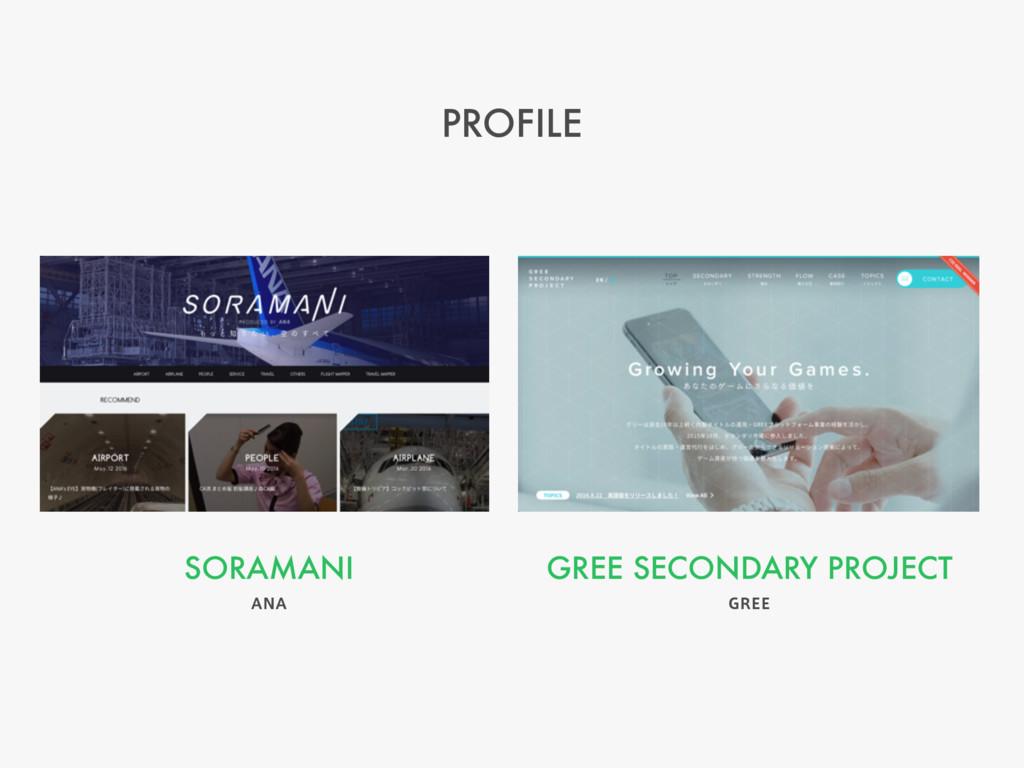 "PROFILE GREE SECONDARY PROJECT (3&& SORAMANI ""/..."