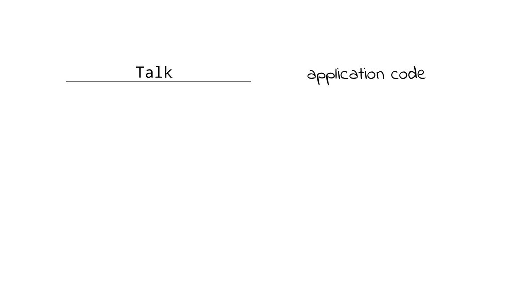 Talk application code