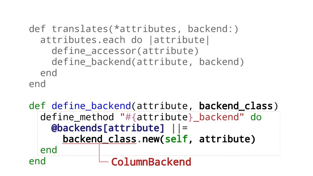 def translates(*attributes, backend:) attribute...