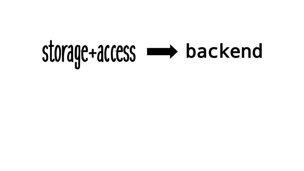 storage+access backend
