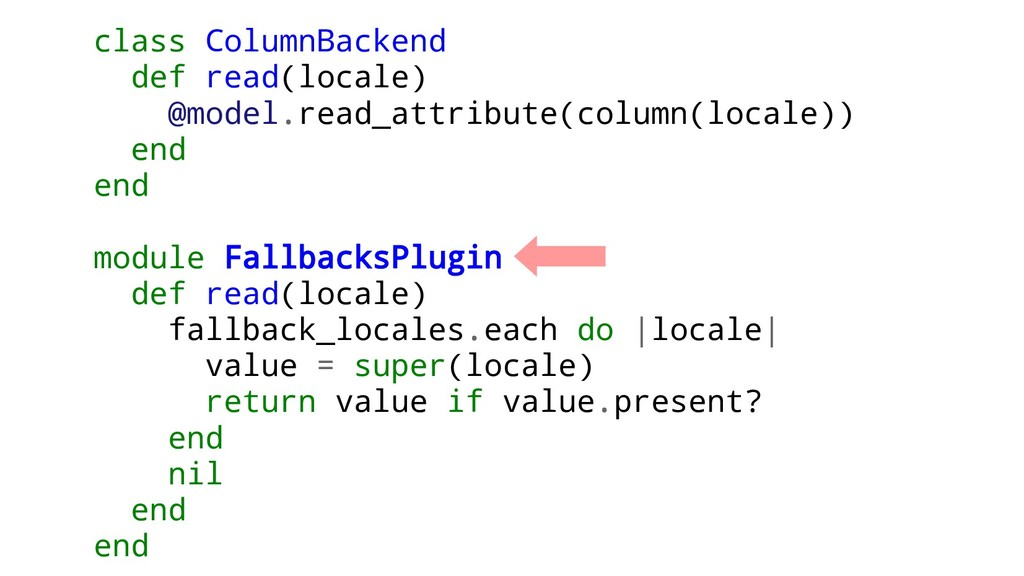 class ColumnBackend def read(locale) @model.rea...