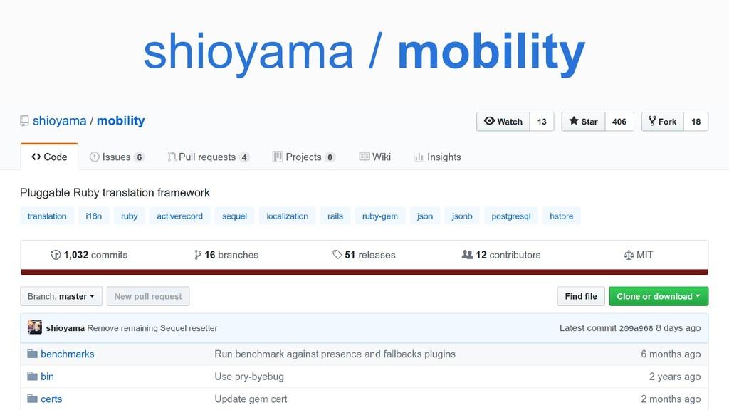 shioyama / mobility
