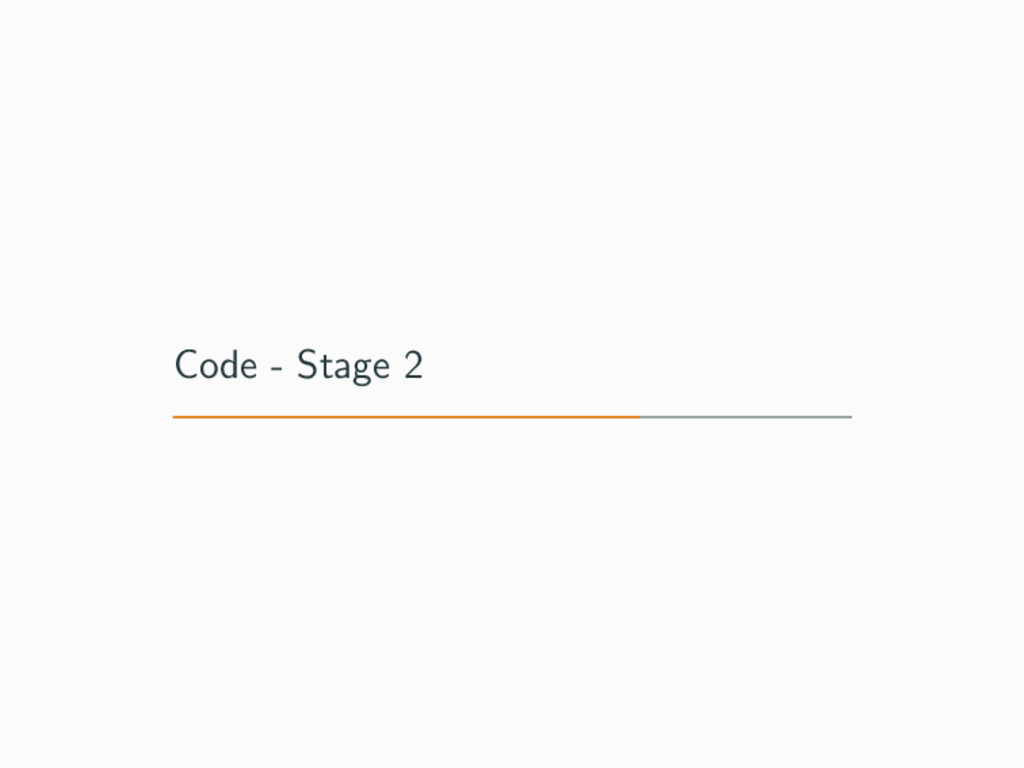 Code - Stage 2