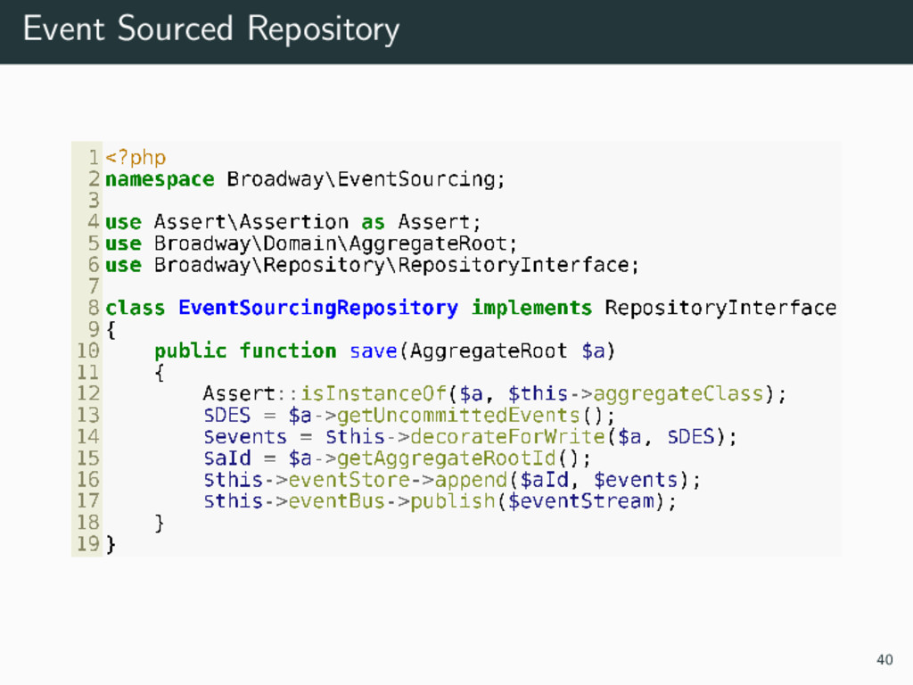 Event Sourced Repository 40
