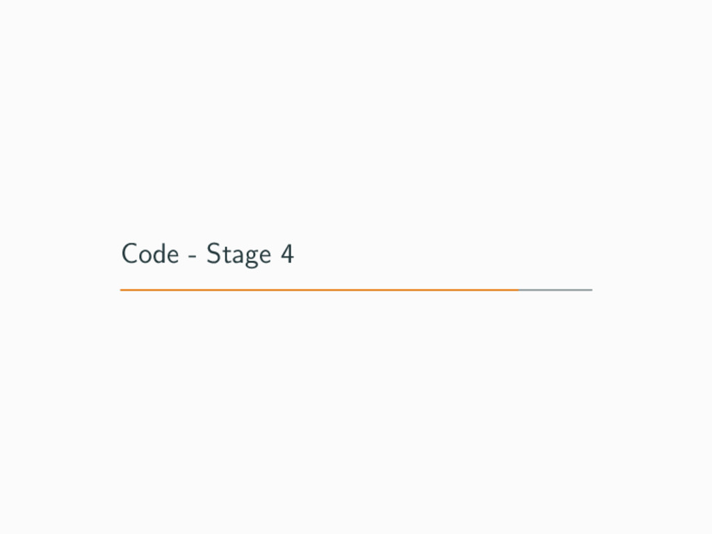 Code - Stage 4