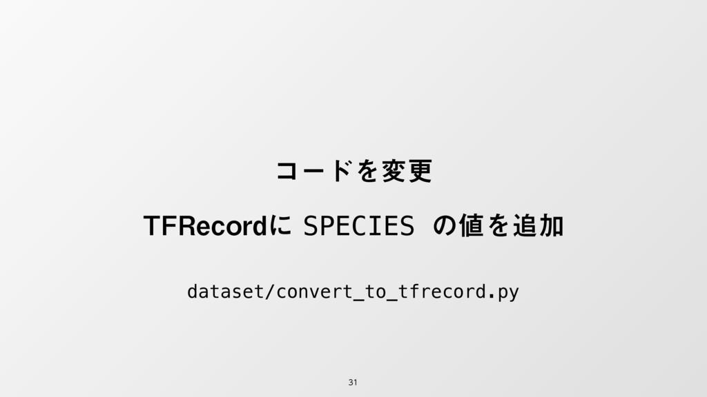 ίʔυΛมߋ 5'3FDPSEʹSPECIES ͷΛՃ dataset/conv...