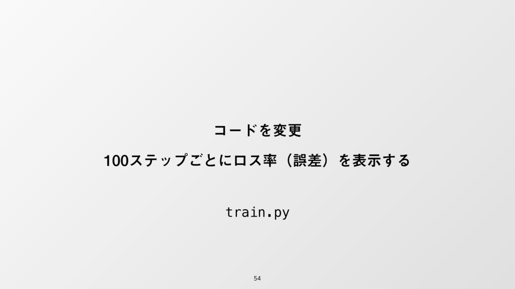 ίʔυΛมߋ εςοϓ͝ͱʹϩεʢޡࠩʣΛදࣔ͢Δ train.py