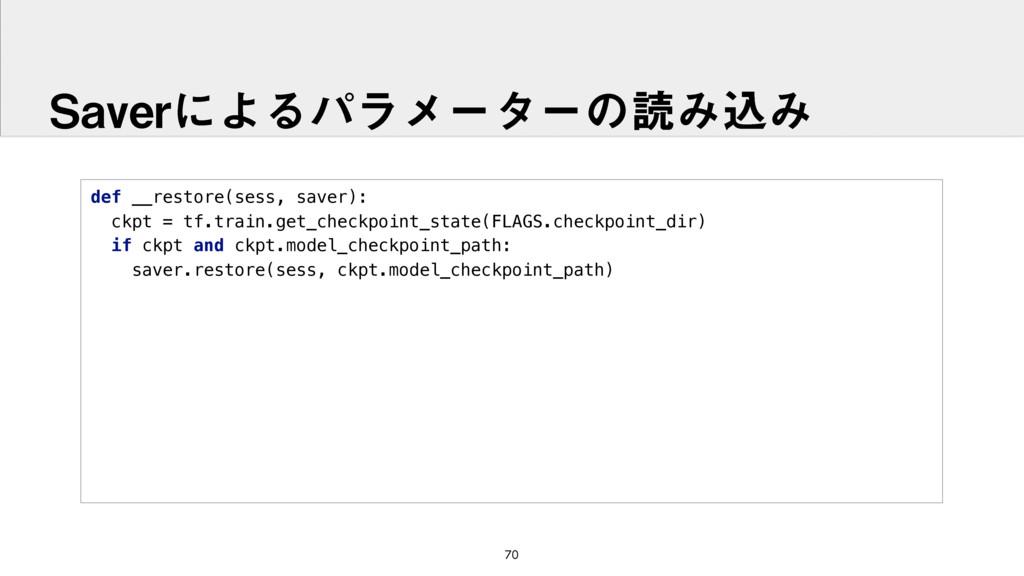 def __restore(sess, saver): ckpt = tf.train.ge...