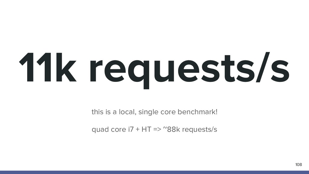 11k requests/s 108 this is a local, single core...