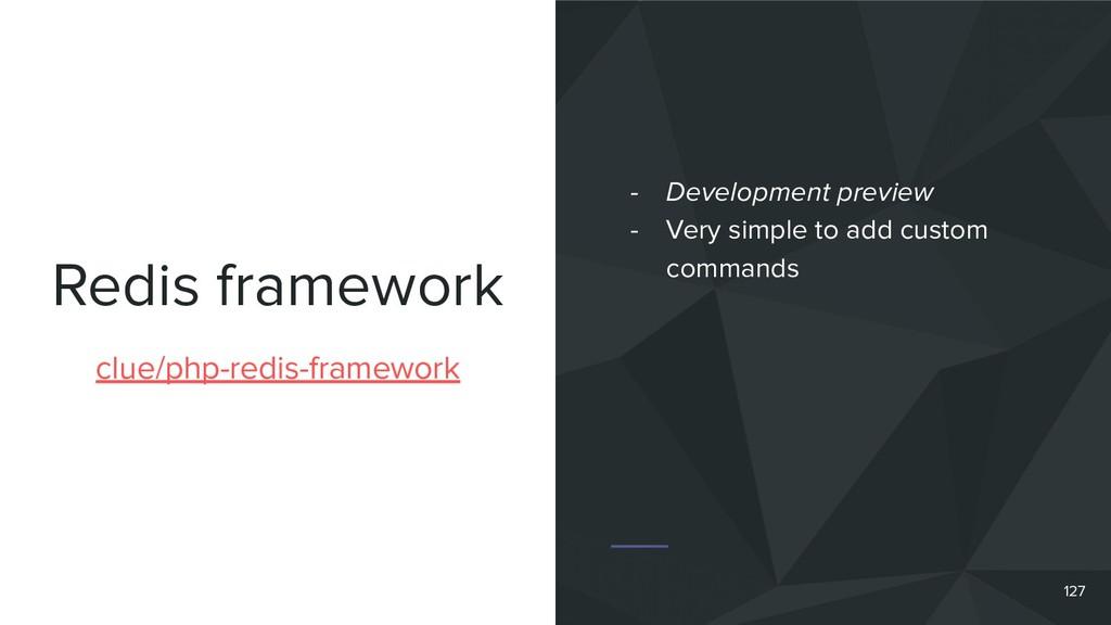 Redis framework 127 clue/php-redis-framework - ...