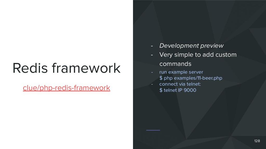 Redis framework 128 clue/php-redis-framework - ...