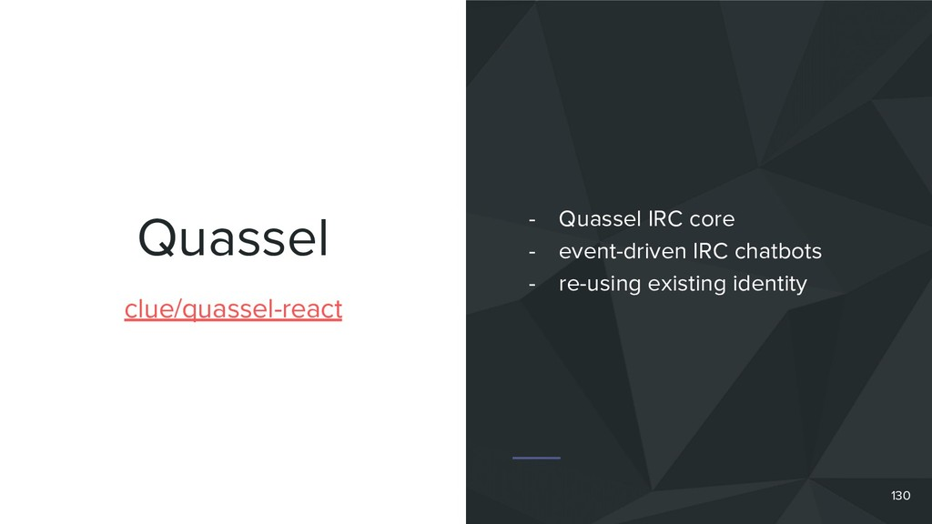 Quassel clue/quassel-react - Quassel IRC core -...