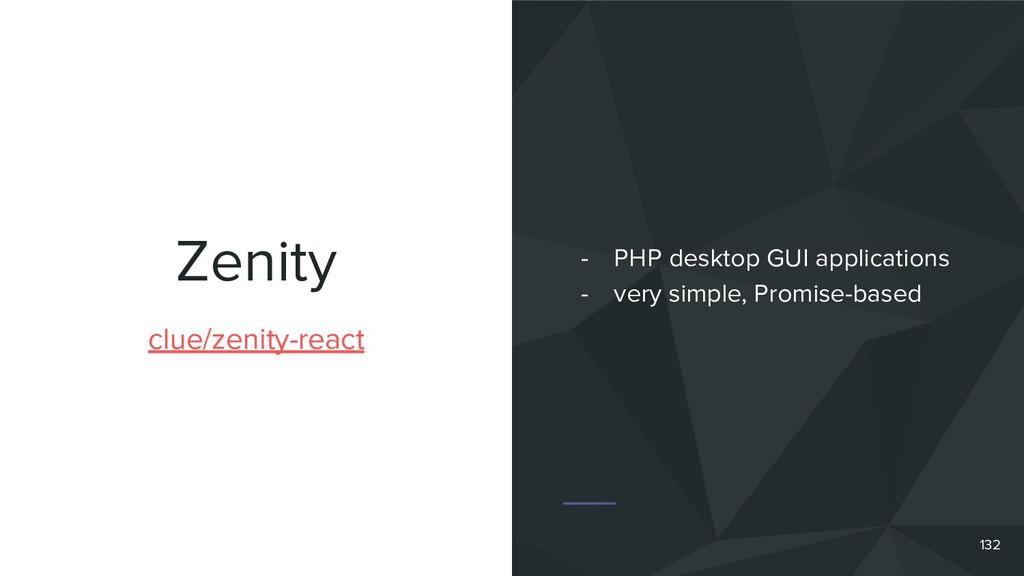 Zenity clue/zenity-react - PHP desktop GUI appl...