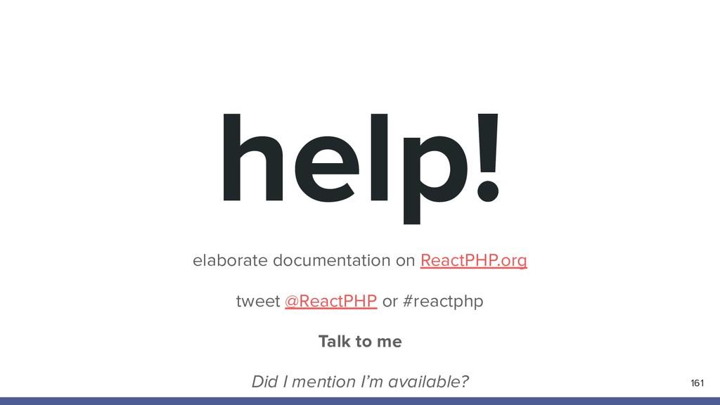 help! elaborate documentation on ReactPHP.org t...