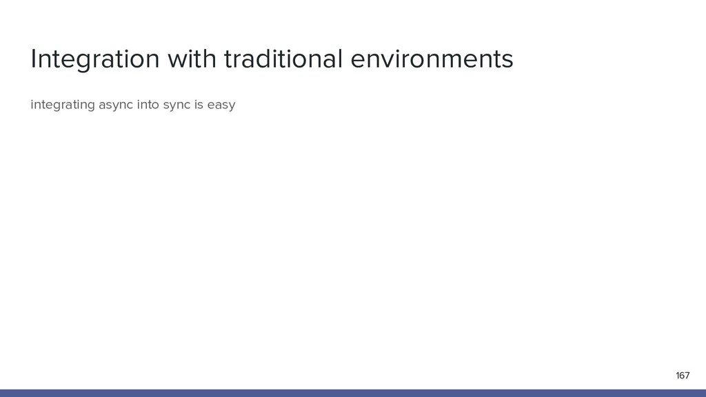 Integration with traditional environments 167 i...