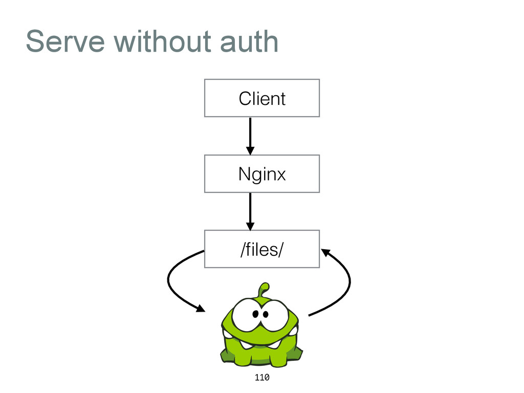 Serve without auth 110 Client Nginx /files/