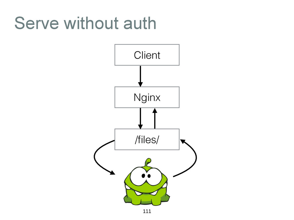 Serve without auth 111 Client Nginx /files/
