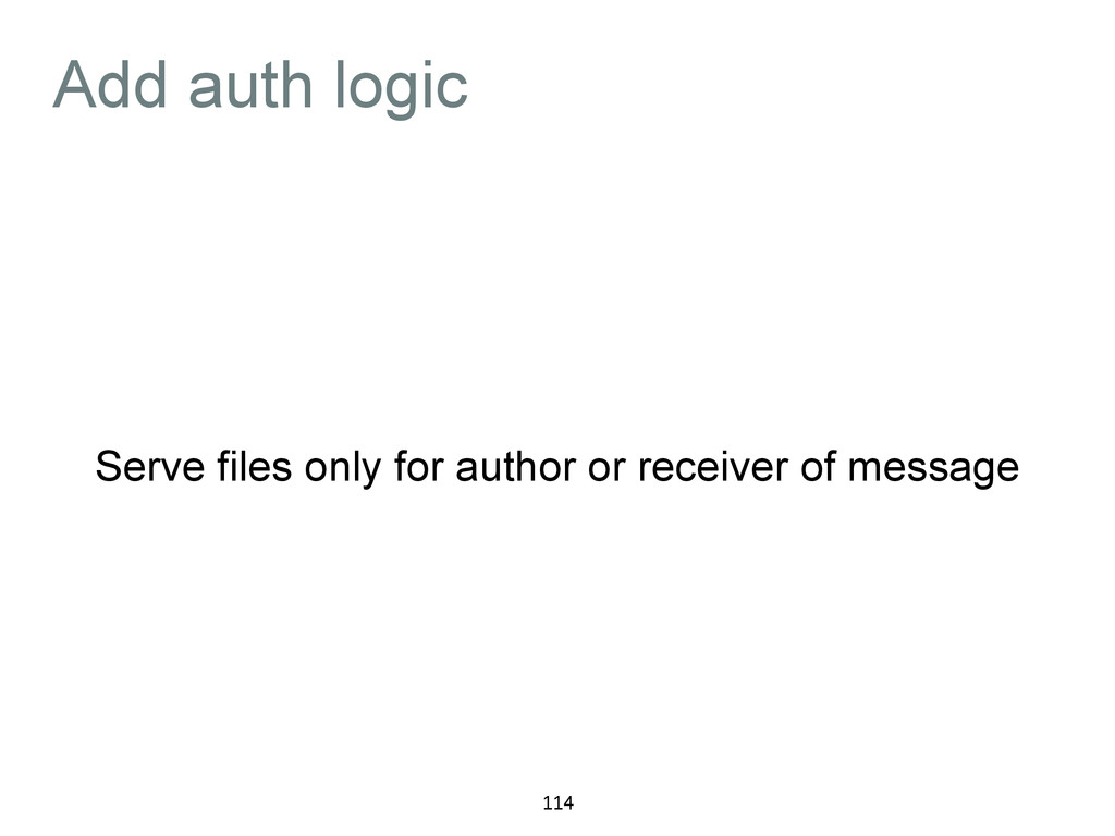Add auth logic Serve files only for author or r...