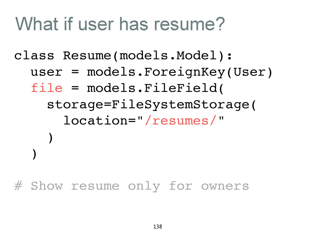 What if user has resume? class Resume(models.Mo...