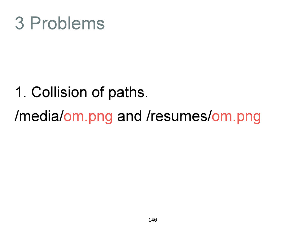 3 Problems 1. Collision of paths. /media/om.png...