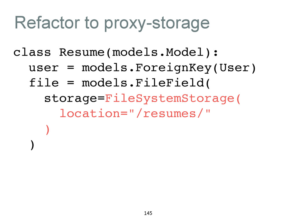 Refactor to proxy-storage class Resume(models.M...