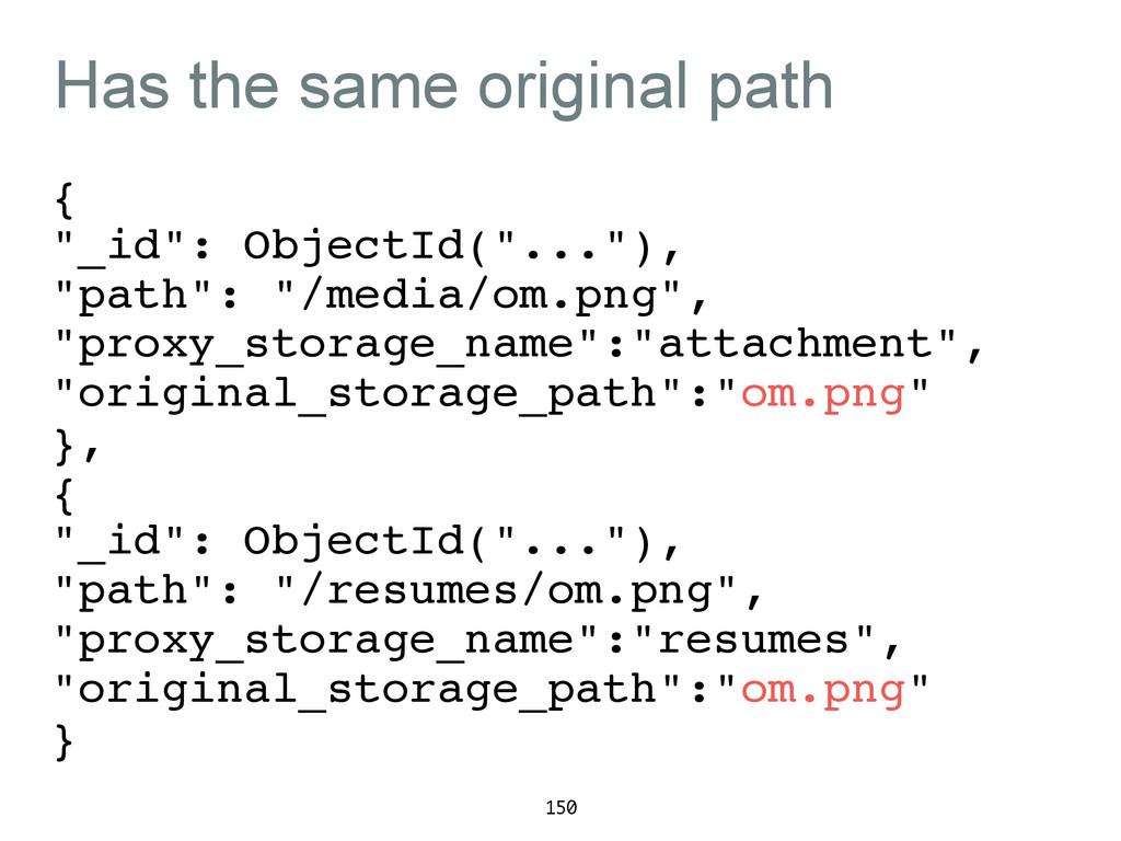 "Has the same original path {! ""_id"": ObjectId(""..."