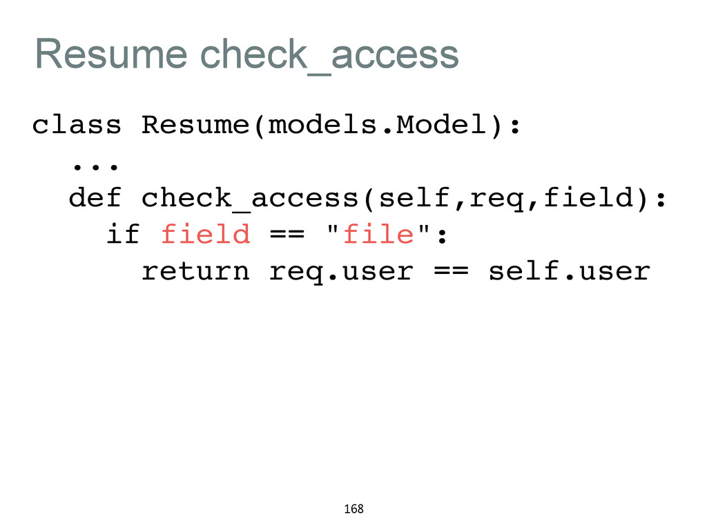 Resume check_access class Resume(models.Model):...