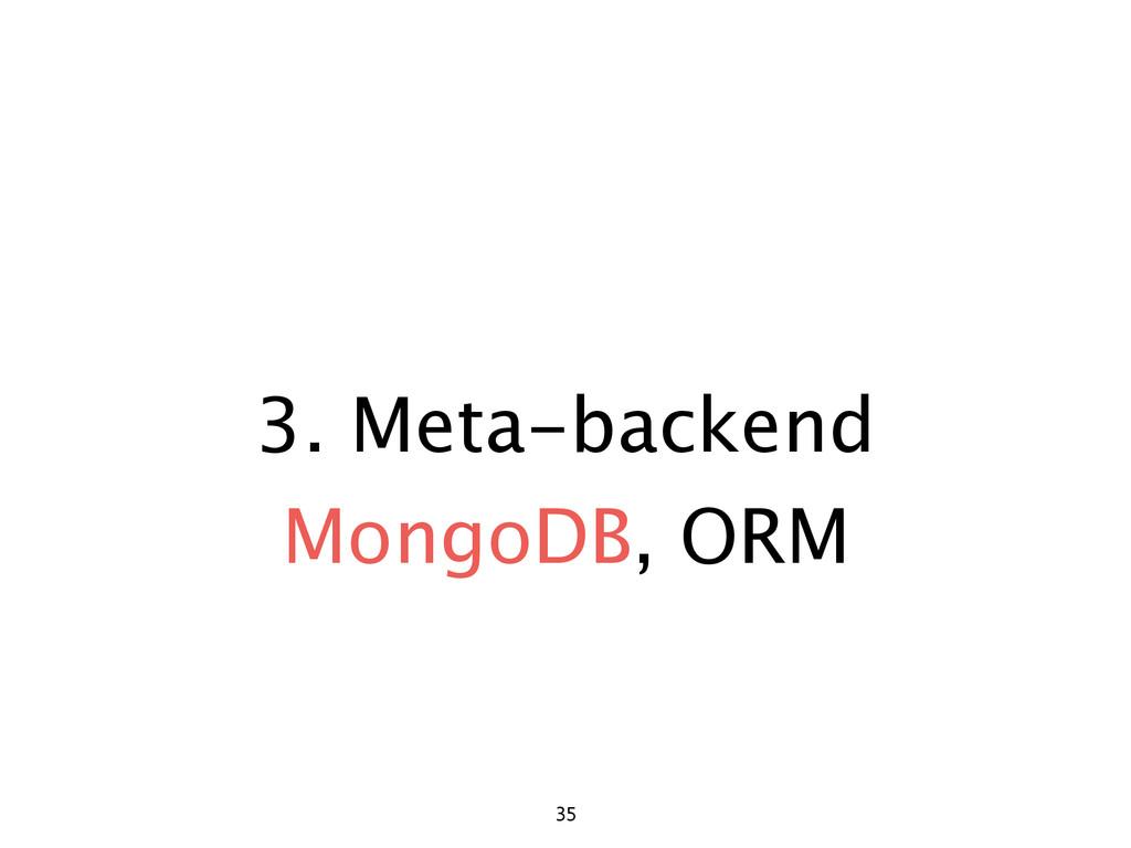 3. Meta-backend 35 MongoDB, ORM