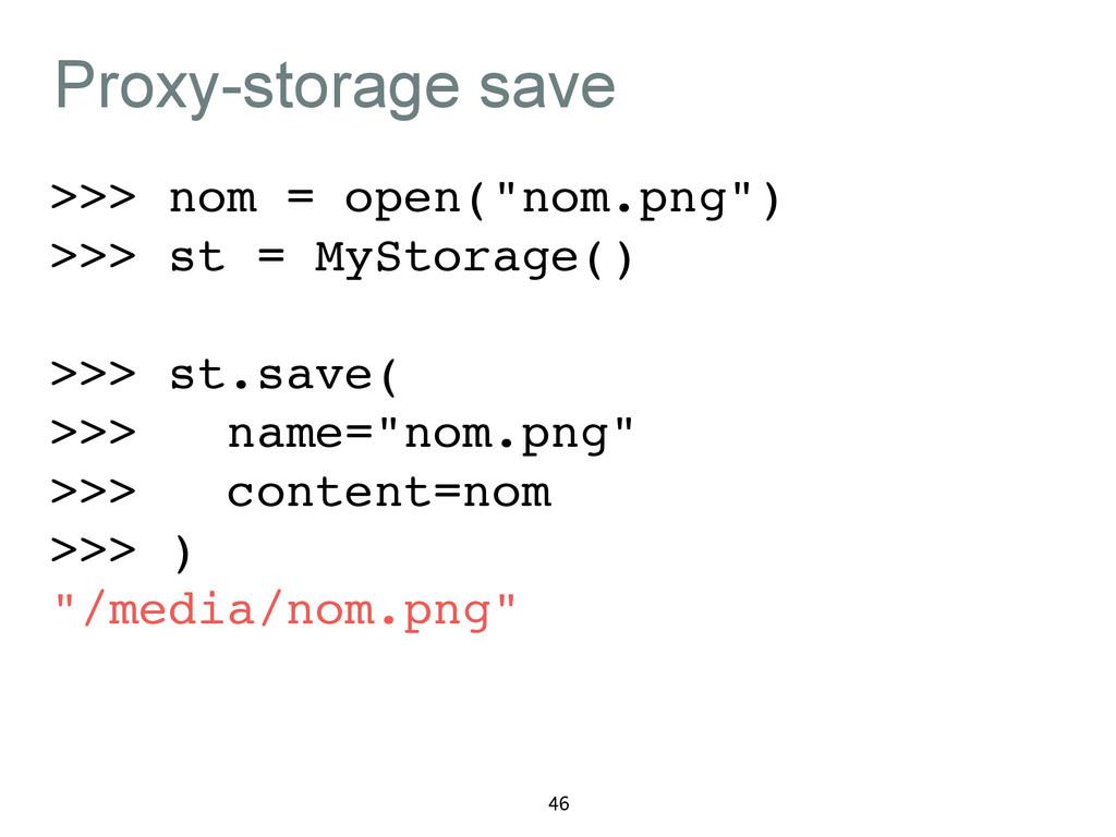 "Proxy-storage save >>> nom = open(""nom.png"")! >..."