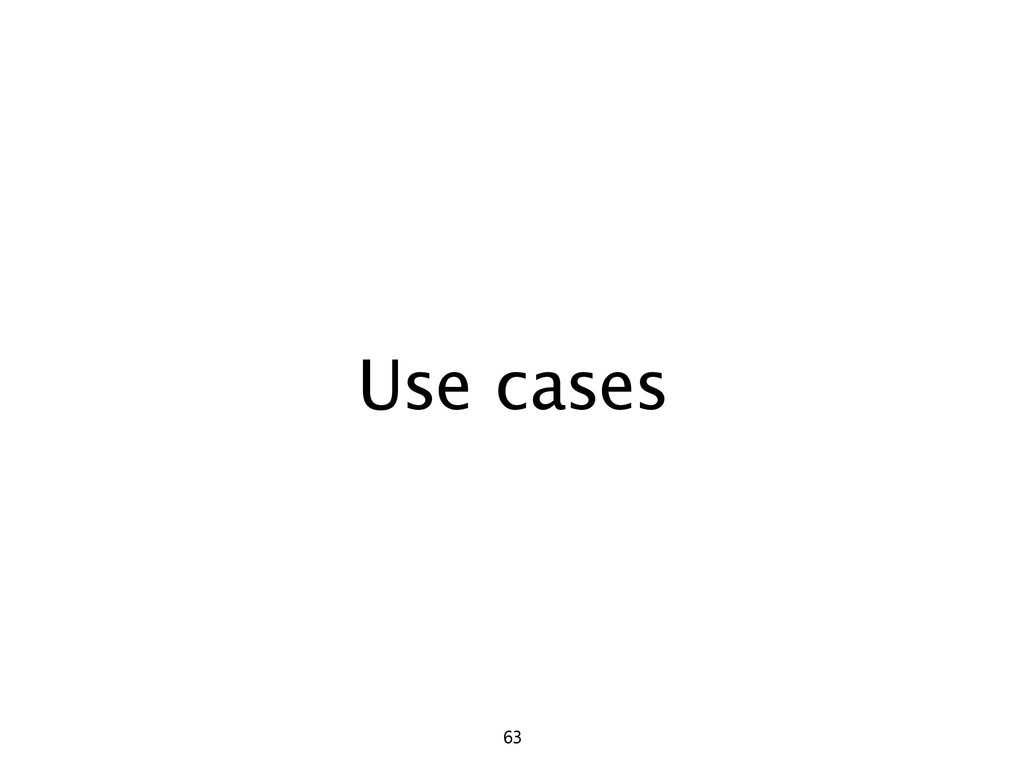 Use cases 63