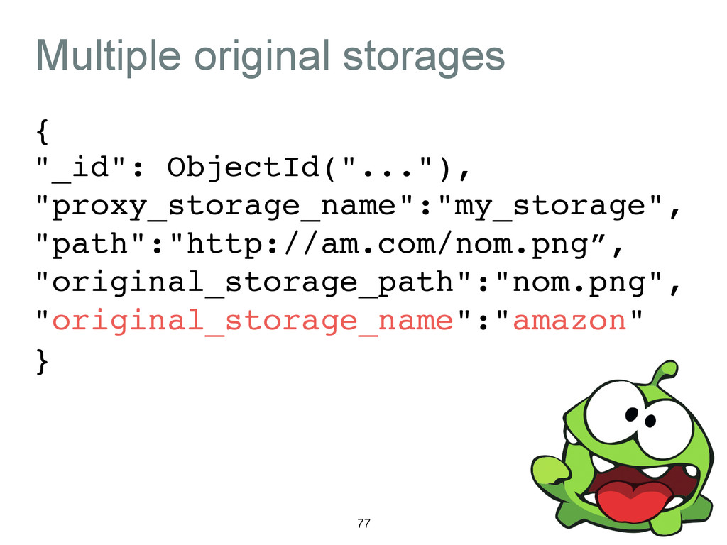 "Multiple original storages {! ""_id"": ObjectId(""..."
