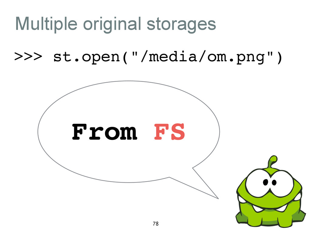 "Multiple original storages >>> st.open(""/media/..."