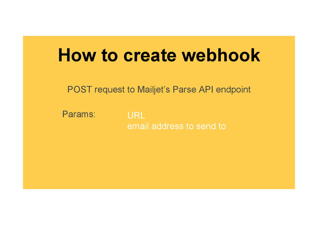 How to create webhook POST request to Mailjet's...