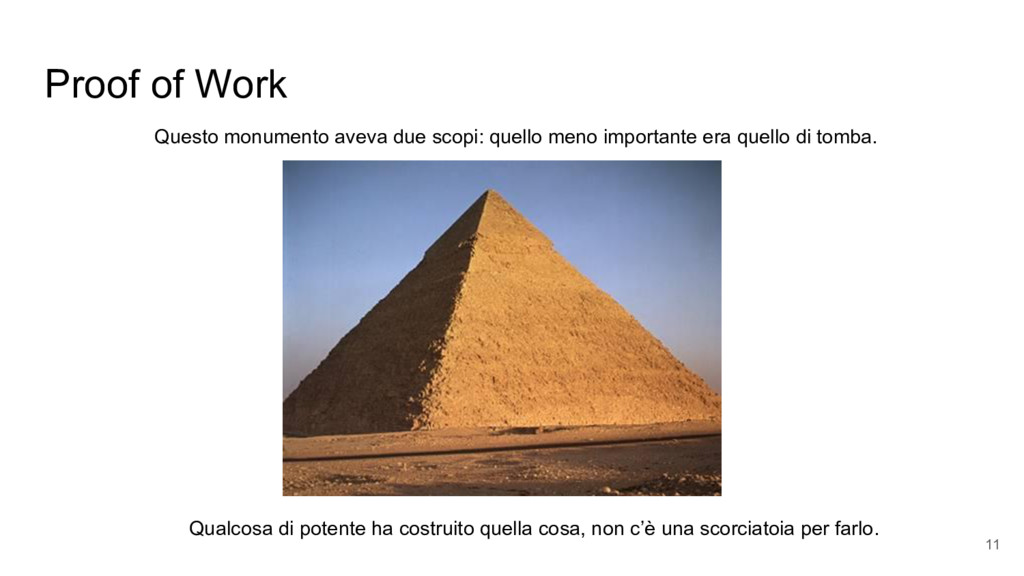 Proof of Work Qualcosa di potente ha costruito ...