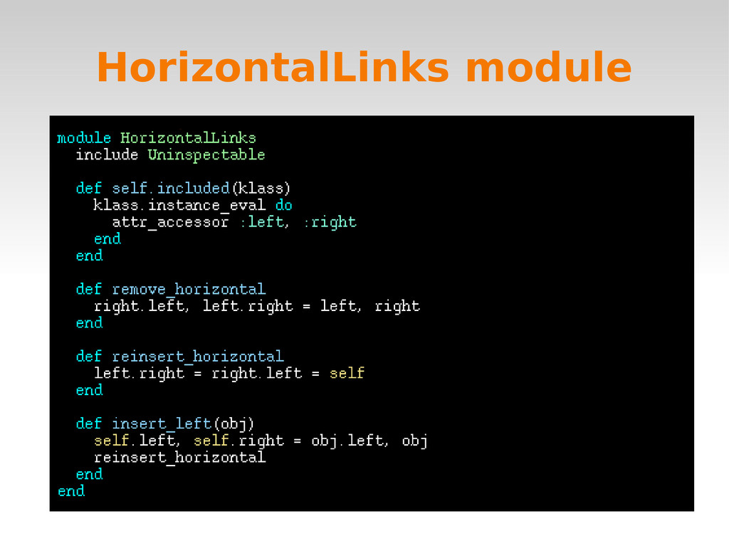 HorizontalLinks module