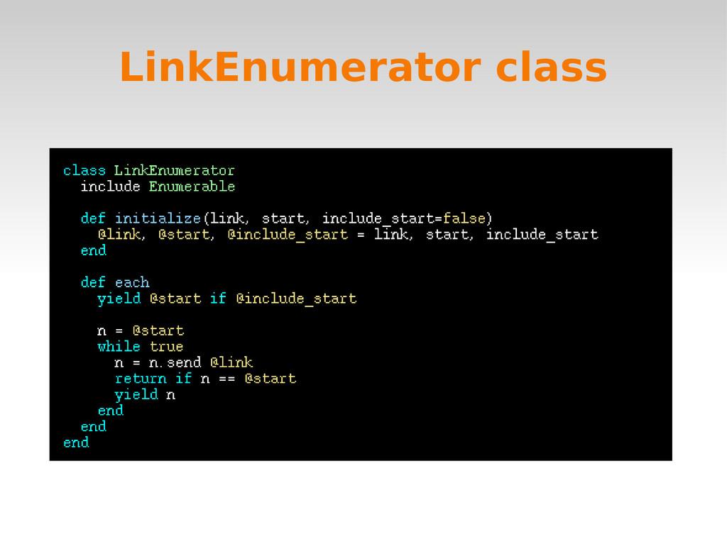 LinkEnumerator class