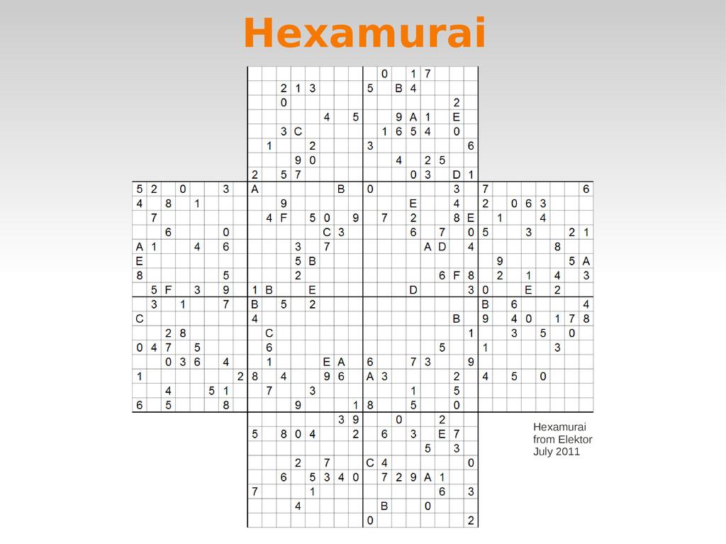 Hexamurai Hexamurai from Elektor July 2011