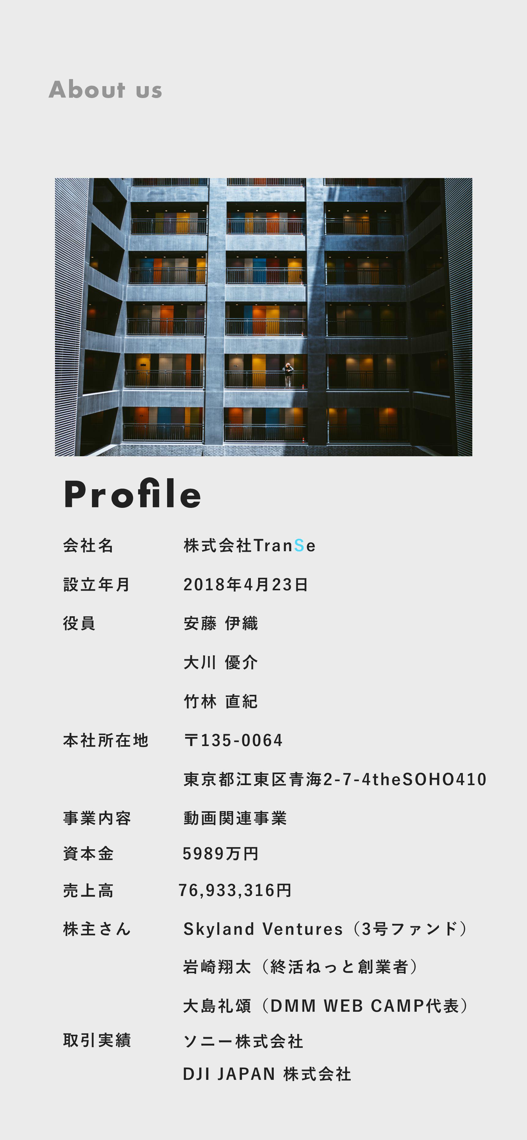 Profile ձ໊ࣾ һ ઃཱ݄ ຊࣾॴࡏ ۀ༰ גओ͞Μ גࣜձࣾ5SBO4F ҆...